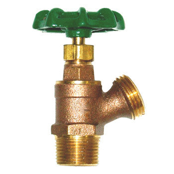 "Webstone 11700W   1/2"" MIP x HOSE LEAD FREE HI-FLOW BRASS BOILER w/ STUFFING BOX - 200 PSI"