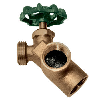 "Webstone 11711W   3/4"" FIP x FIP x HOSE LEAD FREE BRASS WATER HEATER DRAIN VALVE w/ RECIRCULATING ELBOW (TAN HANDLE)- 125 PSI"