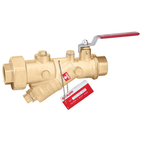 "Caleffi 120161A 000 Brass Model 120 FlowCal Y-Strainer 1"" NPT, with Integral Ball Valve"