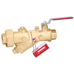 "Caleffi 120171A 000 Brass Model 120 FlowCal Y-Strainer 1-1/4"" NPT, with Integral Ball Valve"