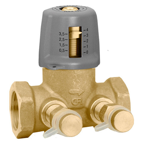 "Caleffi 142241A Brass Model 142 1/2"" NPT Variable Orifice Static Balancing Valve Low-lead"