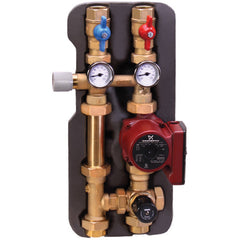 Caleffi 163600A Brass Model 163 HydroMixer Fixed Temp Mixing Unit Right Hand w/Pressure Differential By-pass Valve