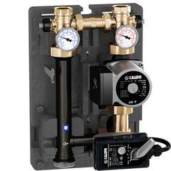 "Caleffi 167600A Brass Model 167 HydroMixer Motorized Temp Mixing unit 1"" connection with 15-58 pump on right side"