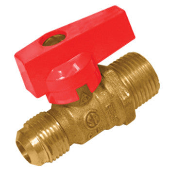 "Webstone 21572   1/2"" FLARE x 1/2"" MIP GAS BALL VALVE"