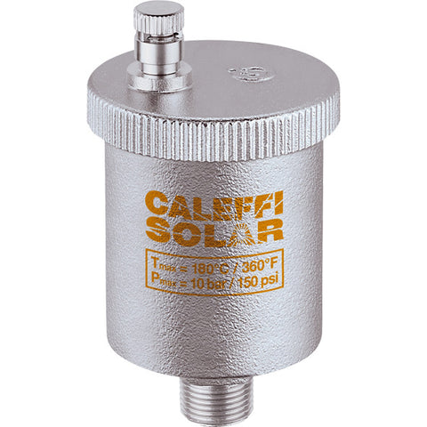 "Caleffi 250041A Solar Model 250 Automatic Air Vent 1/2"" NPT"