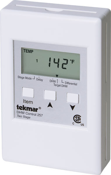 Tekmar 257   DHW Control – Two stage