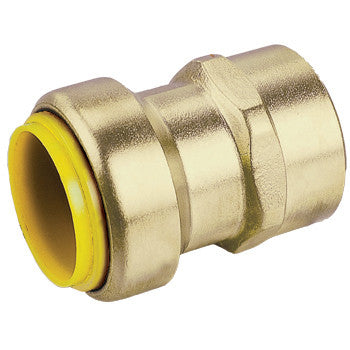 "Webstone 26202W   1/2"" PRO-PUSH x FPT STRAIGHT CONNECTOR-LEAD FREE  DZR BRASS"