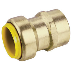 "Webstone 26203W   3/4"" PRO-PUSH x FPT STRAIGHT CONNECTOR-LEAD FREE  DZR BRASS"