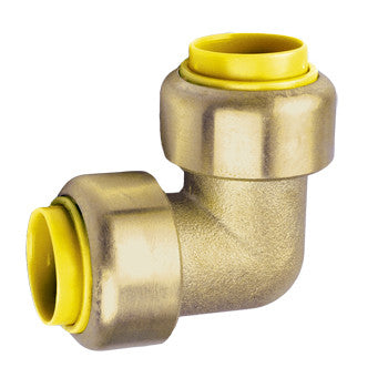 "Webstone 26402W   1/2"" PRO-PUSH 90 DEGREE ELBOW-LEAD FREE  DZR BRASS"