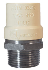 "LEGEND 302-437   1-1/2"" MNPT x CPVC STAINLESS STEEL TRANSITION FITTING"