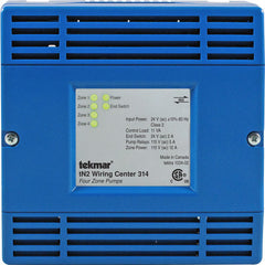 Tekmar 314   tN2 Wiring Center – Four zone pumps