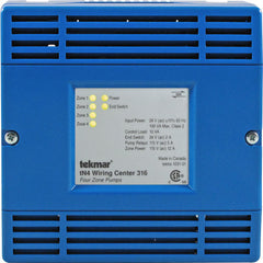 Tekmar 316   tN4 Wiring Center – Four zone pump