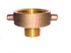 "LEGEND 322-734   A75 2-1/2"" NST x 1"" MNPT FEMALE x MALE BRASS HYDRANT ADAPTER"