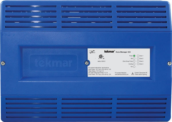 Tekmar 334   tN2 Zone Manager – Four zones, Cooling & Fan
