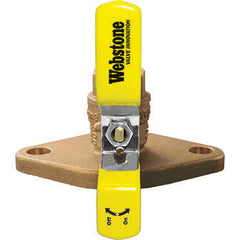"Webstone 40405HV   1-1/4"" IPS ISOLATOR HIGH VELOCITY - FULL PORT BRASS BALL VALVE BONUS WING STYLE T-HANDLE"