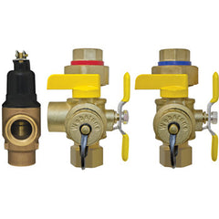 "Webstone 40443WPR2   3/4"" IPS LEAD FREE ISOLATOR EXP w/C-PRV TANKLESS WATER HEATER SERVICE VALVES - HOT & COLD SET"