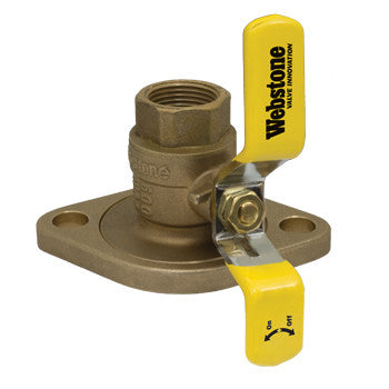 "Webstone 41404W   1"" IPS LEAD FREE ISOLATOR w/ROTATING FLANGE FULL PORT BRASS BALL VALVE"