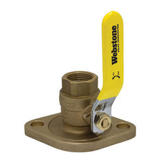 "Webstone 41406   1-1/2"" IPS ISOLATOR w/ROTATING FLANGE FULL PORT BRASS BALL VALVE"