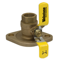 "Webstone 41406W   1-1/2"" IPS LEAD FREE ISOLATOR w/ROTATING FLANGE FULL PORT BRASS BALL VALVE"