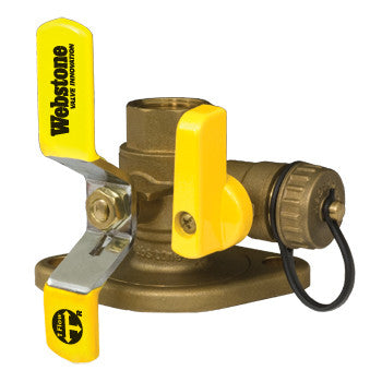 "Webstone 41416WHV   1-1/2"" LEAD FREE IPS ISOLATOR w/MULTI-FUNCTION DRAIN & ROTATING FLANGE HIGH VELOCITY - FULL PORT BRASS BALL VALVE"