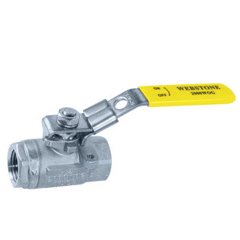 "Webstone 43814   1"" IPS STANDARD PORT 316 STAINLESS STEEL SEAL WELD BALL VALVE w/ 304 STAINLESS STEEL LOCKING HANDLE"