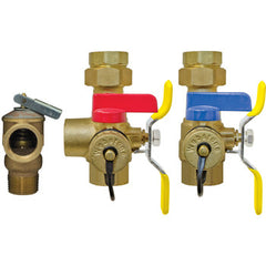 "Webstone 44443WPR-LF   3/4"" IPS LEAD FREE ISOLATOR EXP E2 w/LF PRV TANKLESS WATER HEATER SERVICE VALVES - HOT & COLD SET"