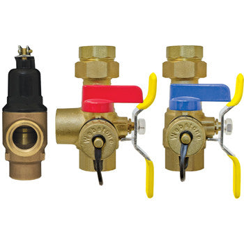 "Webstone 44444WPR2   1"" IPS LEAD FREE ISOLATOR EXP E2 w/C-PRV TANKLESS WATER HEATER SERVICE VALVES - HOT & COLD SET"