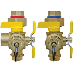 "Webstone 50443   3/4"" SWT ISOLATOR EXP TANKLESS WATER HEATER SERVICE VALVES - HOT & COLD SET"