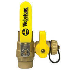 "Webstone 50613 PRO-PAL 3/4"" CxC BALL DRAIN FULL PORT BRASS BALL VALVE HI-FLOW HOSE DRAIN"