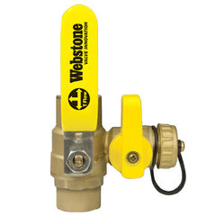"Webstone 50615W PRO-PAL 1-1/4"" CxC LEAD FREE BALL DRAIN FULL PORT BRASS BALL VALVE HI-FLOW HOSE DRAIN"