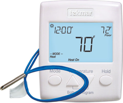 Tekmar 521   Programmable Thermostat -2 Heat or Heat-Cool (Includes Sensor 079)