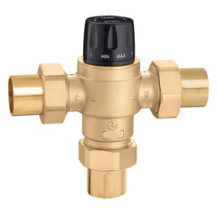 "Caleffi 523168A Low Lead Brass Model 5231 High Flow 3-Way Thermostatic Mixing Valve ASSE 1017 1"" SWT"