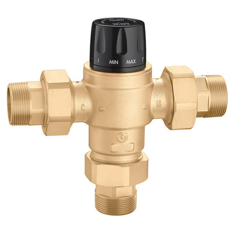 "Caleffi 523190A Low Lead Brass Model 5231 High Flow 3-Way Thermostatic Mixing Valve ASSE 1017 2"" NPT"