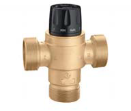 "Caleffi 523199A Low Lead Brass Model 5231 High Flow 3-Way Thermo Mix Valve ASSE 1017 Body only 2-1/2"" male thread, no fittings or union nuts"
