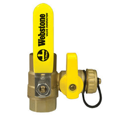"Webstone 54612 PRO-PAL 1/2"" SWT x IPS BALL DRAIN FULL PORT BRASS BALL VALVE HI-FLOW HOSE DRAIN"