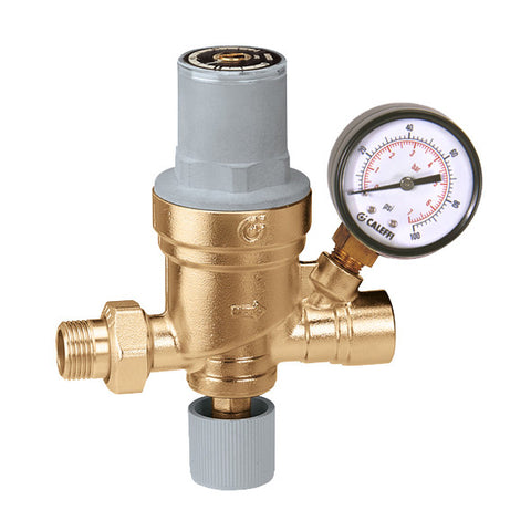 "Caleffi 553642A Brass Model 553 AutoFill Boiler Feed Valve with gauge 1/2""NPT Inlet"
