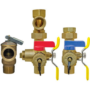 "Webstone 55443WPR   3/4"" SWT LEAD FREE ISOLATOR EXP E3 w/PRV TANKLESS WATER HEATER SERVICE VALVES - HOT &  COLD SET"