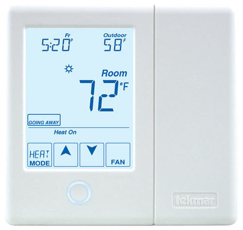 Tekmar 557   tekmarNet® Thermostat - Radiant floor, Two heat pump/cool, Backup, Humidity