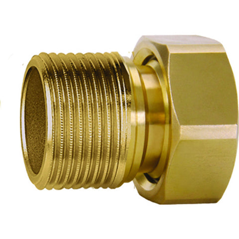 "Caleffi 59894A Low Lead Brass Male Tail Piece 1"" NPT Check Valve Nut"