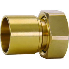 "Caleffi 59906A Low Lead Brass Male Tail Piece 1"" SWT w/ Check Valve + Nut"