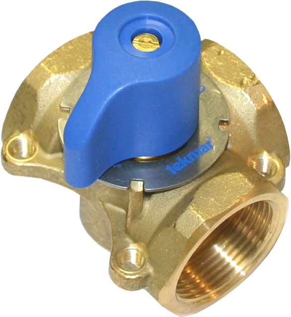 "Tekmar 712   3-Way Mixing Valve - 1-1/4"" brass"