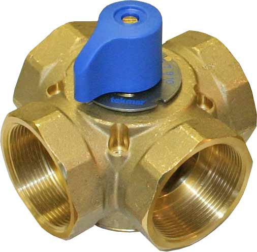 "Tekmar 724   4-way Mixing Valve - 2"" brass"
