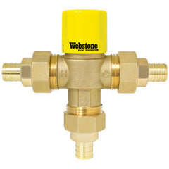 "Webstone 73203W-CAN   3/4"" PEX LEAD FREE THERMOSTATIC MIXING VALVE w/ CHECK OUTLET TEMP 95-120F - 150 PSI"