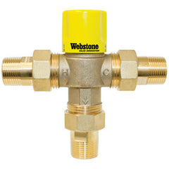 "Webstone 74103W   3/4"" MIP LEAD FREE THERMOSTATIC MIXING VALVE OUTLET TEMP 95-131F - 150 PSI"