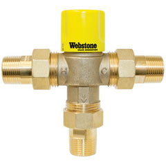 "Webstone 74104W-CAN   1"" MIP LEAD FREE THERMOSTATIC MIXING VALVE OUTLET TEMP 95-120F - 150 PSI"