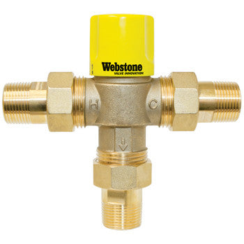 "Webstone 74204W-CAN   1"" MIP LEAD FREE THERMOSTATIC MIXING VALVE w/CHECK OUTLET TEMP 95-120F - 150 PSI"