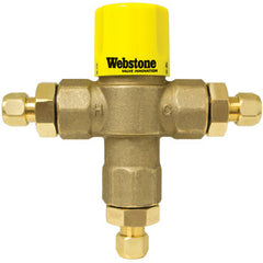 "Webstone 74401W   3/8"" COMPRESSION LEAD FREE THERMOSTATIC MIXING VALVE  w/ CHECK OUTLET TEMP 95-131F - 150 PSI"