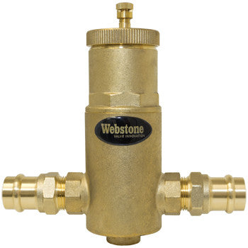 "Webstone 78003   3/4"" PRESS AIR SEPARATOR w/ REMOVABLE VENT HEAD"