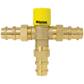"Webstone 78202W-CAN   1/2"" PRESS LEAD FREE THERMOSTATIC MIXING VALVE w/CHECK OUTLET TEMP 95-120F - 150 PSI"