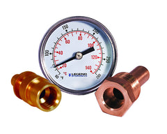 "LEGEND HYDRONICS 800-652   3"" TEMPERATURE GAUGE WITH 1/2"" MPT THERMOWELL"